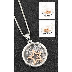 Equilibrium Floating Crystals Necklace Wish upon a Star