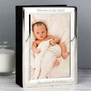 Personalised Silver 6x4 Photo Frame Album