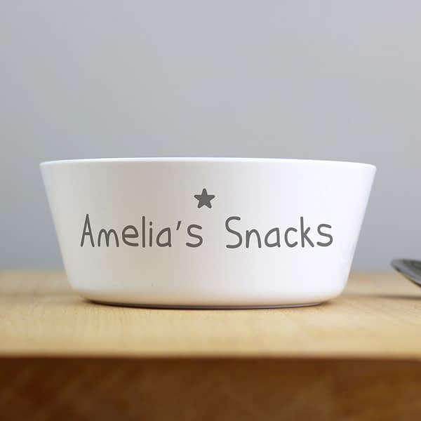 Personalised Name Only Plastic Bowl