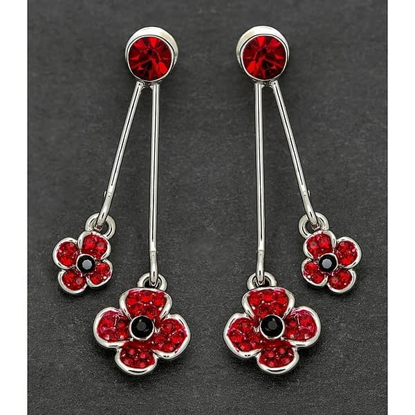 Equilibrium Double Poppy Earrings