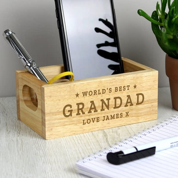 Personalised Worlds Best Mini Wooden Crate