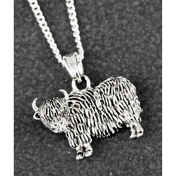 Equilibrium Highland Coo Silver Plated Necklace