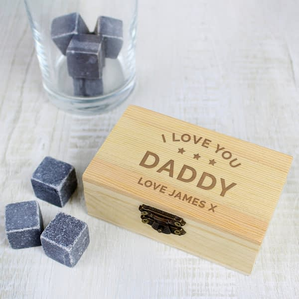 Personalised Stars Free Text Cooling Stones