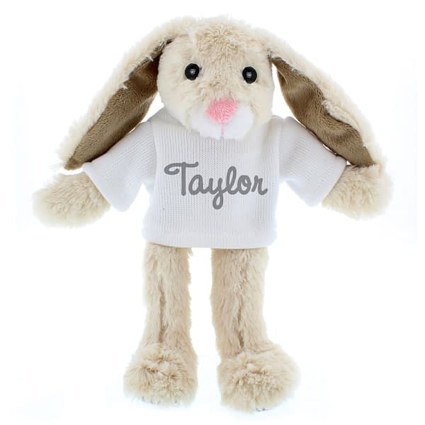 Personalised Name Only Bunny Rabbit - Grey