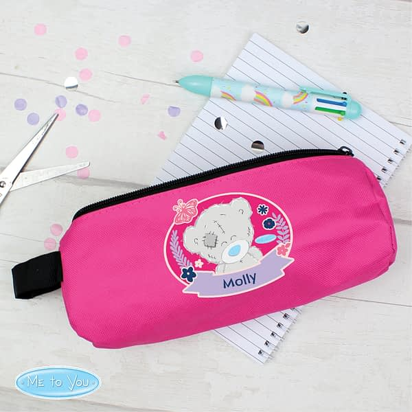 Personalised Me To You Pink Pencil Case
