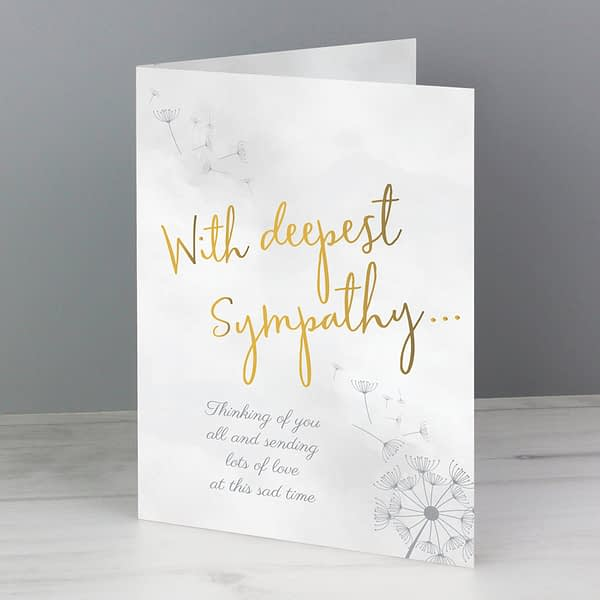 Personalised Deepest Sympathy Card