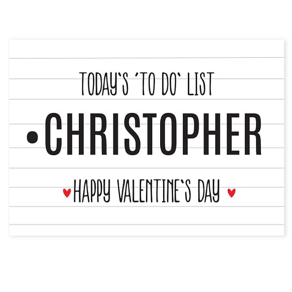 Personalised Naughty 'To Do' List Card