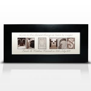 Personalised Affection Art Mr & Mrs Small Frame