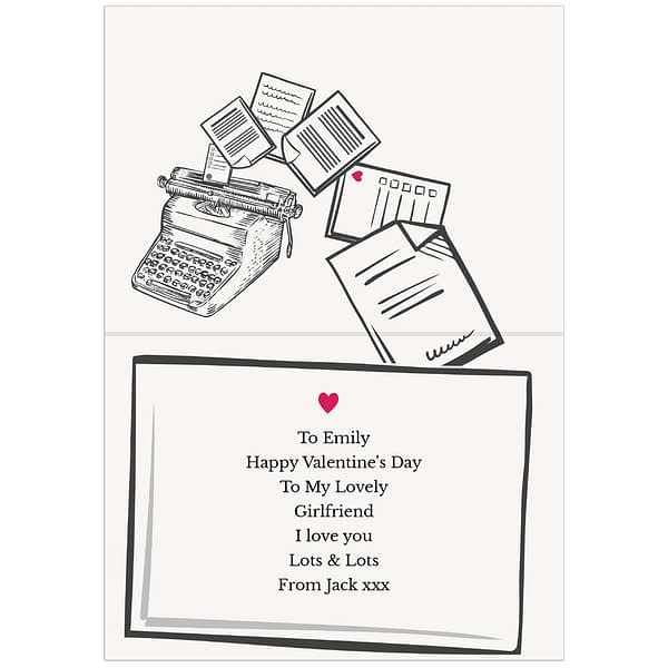 Personalised Just My Type Valentines Card
