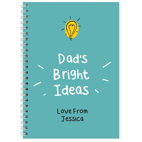 Personalised Bright Ideas A5 Notebook