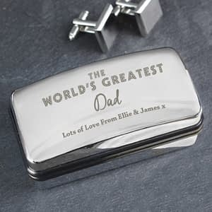 Personalised 'The World's Greatest' Cufflink Box