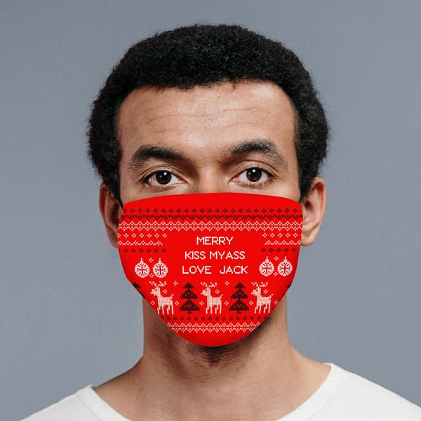 Personalised Festive Christmas Face Covering