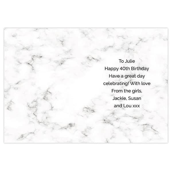 Personalised Marble and Rose Gold Birthday Card