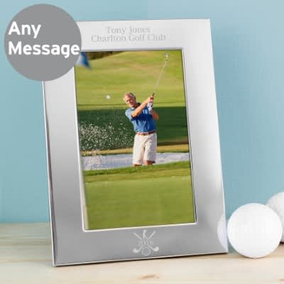 Personalised Golf 6x4 Silver Photo Frame