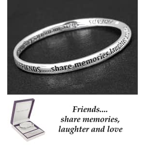 Equilibrium Silver Plated Bangle Friends