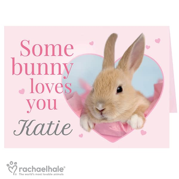 Personalised Rachael Hale 'Some Bunny' Card