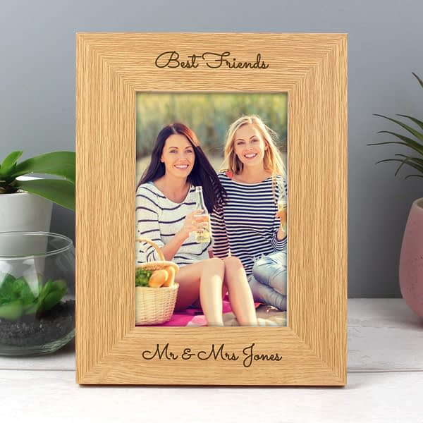 Personalised Free Text 4x6 Wooden Photo Frame