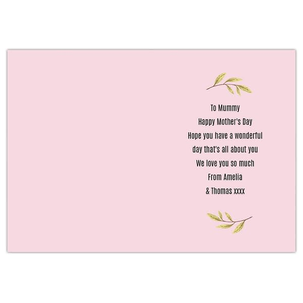 Personalised Floral Heart Card