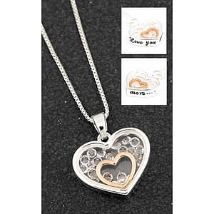 Equilibrium Floating crystal love you more necklace