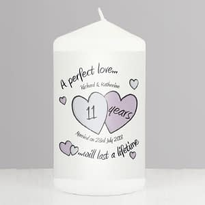 Personalised A Perfect Love Anniversary Candle