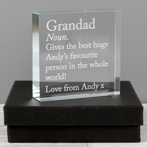 Personalised Dictionary Definition Large Crystal Token