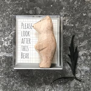 East of India Boxed bear-Please look after