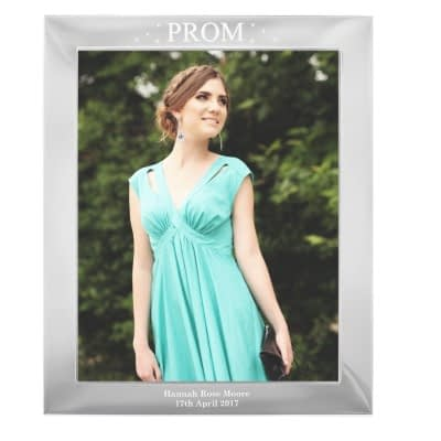 Personalised Prom Night 10x8 Silver Photo Frame