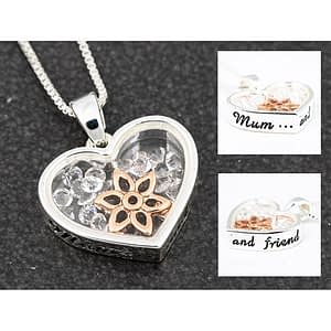 Equilibrium Floating Crystals Necklace Mum and Best Friend