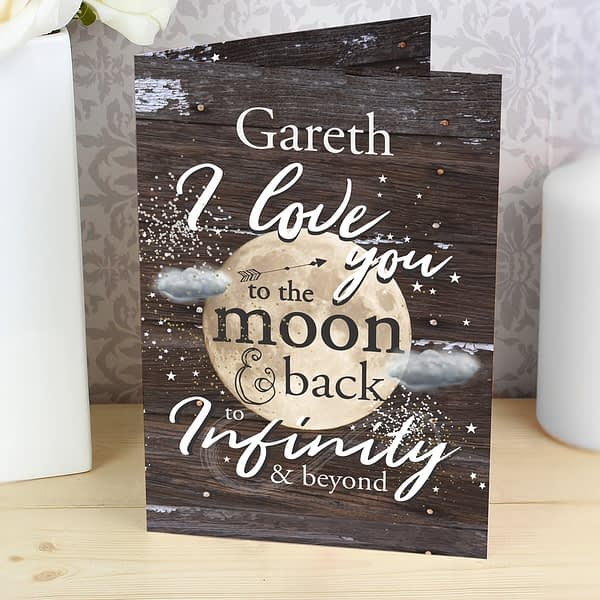 Personalised To the Moon & Infinity... Card