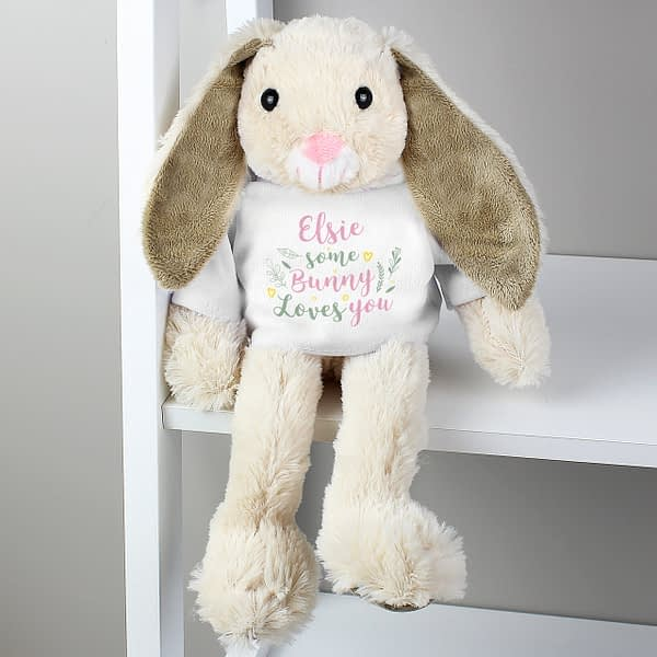 Personalised 'Some Bunny Loves You' Bunny Rabbit