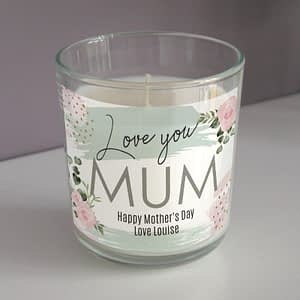 Personalised Abstract Rose Scented Jar Candle