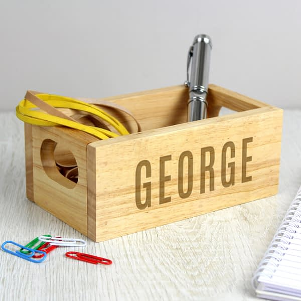 Personalised Name Only Mini Wooden Crate