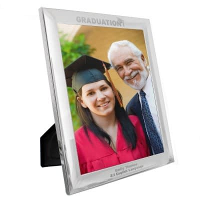 Personalised Graduation 10x8 Silver Photo Frame