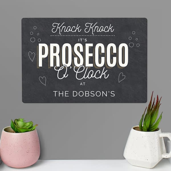 Personalised Prosecco Metal Sign