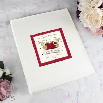 Personalised Boofle Shared Heart Album with Sleeves