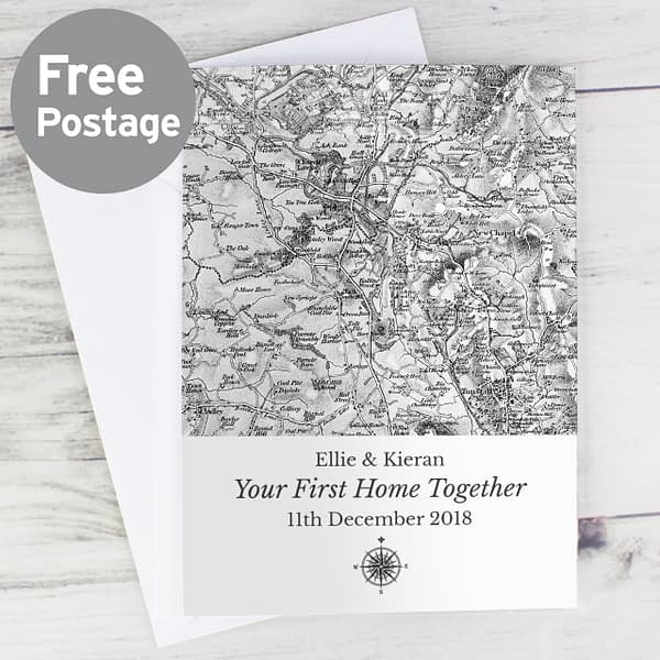 Personalised 1805 - 1874 Old Series Map Compass Card