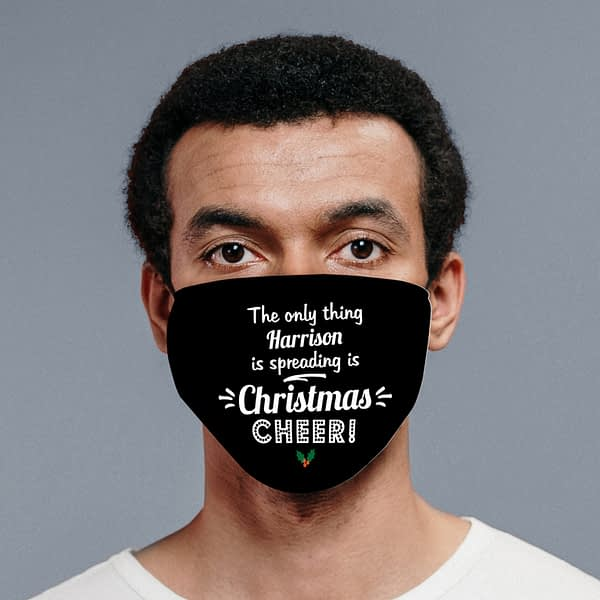 Personalised Spreading Christmas Cheer Face Covering