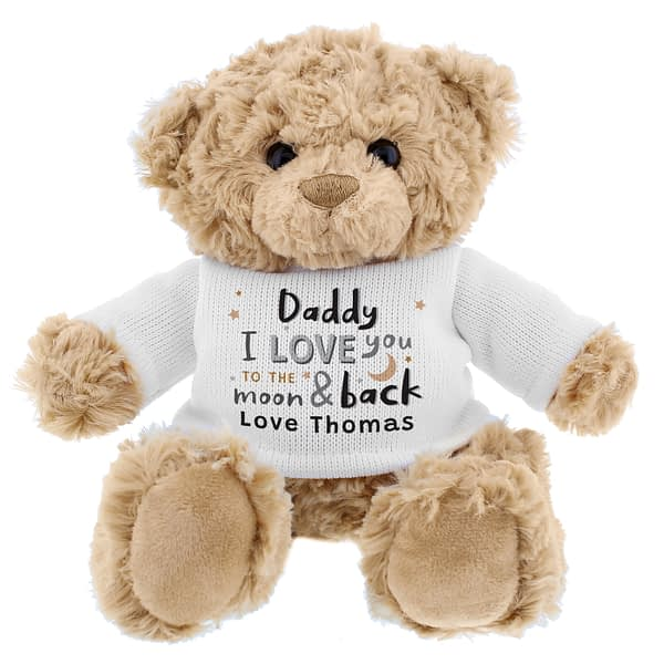 Personalised To the Moon and Back Teddy Bear