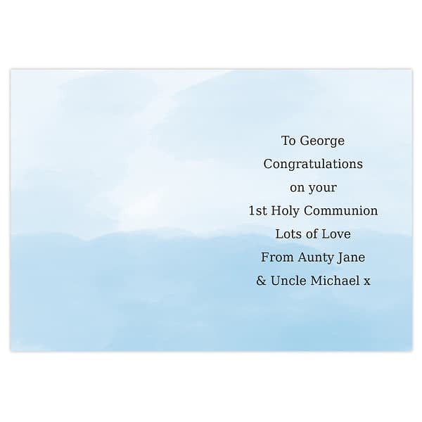 Personalised Boys First Holy Communion Card