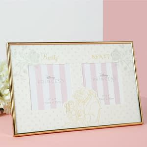 DISNEY HAPPILY EVER AFTER DOUBLE FRAME - BEAUTY & THE BEAST