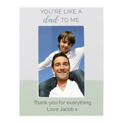"""Personalised """"""""You're Like a Dad to Me"""""""" 6x4 Wooden Photo Frame"""