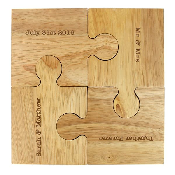 Personalised Message Jigsaw Coasters