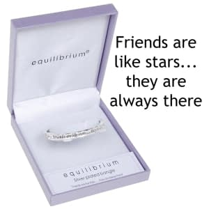 Equilibrium Silver Plated Hinged Bangle Friend