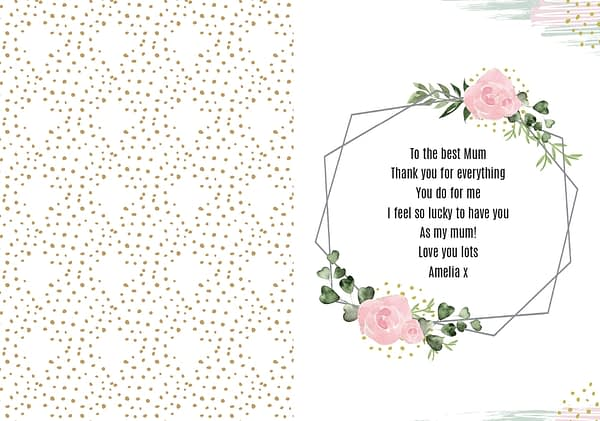 Personalised Happy Mothers Day Abstract Rose Card