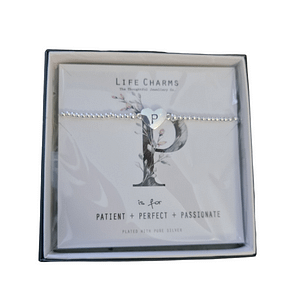 Life Charms Silver plated Initial P Bracelet