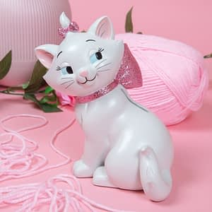 DISNEY OUI MARIE HAND PAINTED COLLECTABLE MONEY BANK
