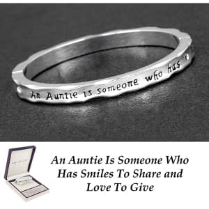 Equilibrium Silver Plated Hinged Bangle Auntie