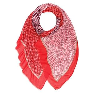 Athens Print Large Scarf RED