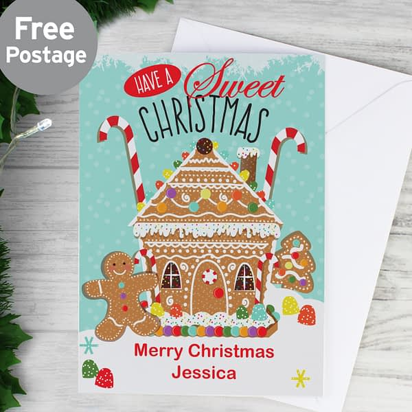 Personalised Gingerbread House Card