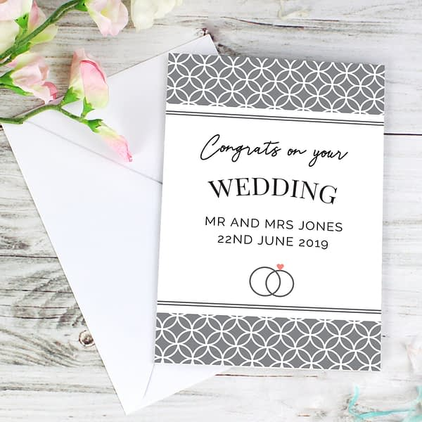 Personalised Couple Congratulations Card